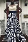 MacDuggal Sheer Illusion Embellished Ball Gown Formal Dress Size 6
