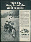 Jawa CZ 250 MX Motorcycle Dirt Bike Motocross Vintage Magazine Print Ad 1973