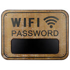 Wifi Password Sign Made From Distressed Weathered Surface Woodwhite
