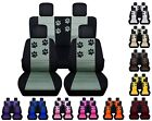 Front and Rear car seat covers Fits Jeep Wrangler JK 2007 2017 black and yellow