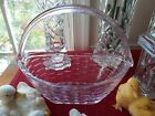 PINK GLASS LONGABERGER EASTER BASKET COLLECTORS CLUB 8 EXC