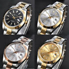 PARNIS Luxury Automatic Men Watch Sapphire Glass Two Tone Gold Plated Band Date