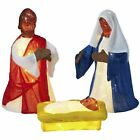 Alcove 3 piece LED Holy Family Nativity Set African American Indoor Outdoor