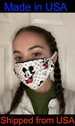 DISNEY MICKEY MOUSE MINNIE CHOOSE Pattern Face Mask 100 Cotton Washable