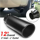 1pcs 762 102mm Vehicle Stainless Steel Exhaust Pipe Muffler Tip Tail Throat