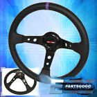For Nissan 6 Bolt Black Purple Deep Dish Steering Wheel 3 Spokes Godsnow Button