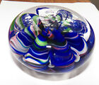 Joe St Clair Large 4 Inch Wide Ribbon Swirl Multicolored Paperweight