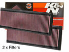 2 x K&N 33-2181 Air Intake Filter Mercedes Benz C CLK E GL ML R S SL CLASS