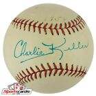 Charlie Keller Signed Baseball D. 1990 New York Yankees PSA DNA COA