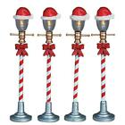 Lemax 2006 SANTA HAT STREET LAMPS 4pc #64472 Christmas Village Lighted Dept 56*