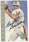 Bob Griese 1998 Football Hall Of Fame Signature Autograph Post Card Auto 2500