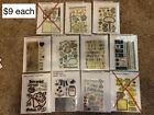 Huge Lot of Over 70 Stamp Sets Clear Acrylic Cling and Wood Rubber + Dies