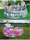 Lot of 2 Inflatable Bestway Backyard Pools 3 ring Barbie + H2OGO Space Ship