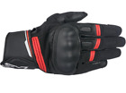 Alpinestars Booster Leather Motorcycle Gloves Black Red 2X Large