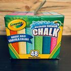 Crayola Washable Sidewalk Chalk 48 Count Assorted Bright Bold Colors BRAND NEW