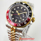 Gold Coated Automatic 40mm Men Watch Sapphire Glass Jubilee Band GMT Hand