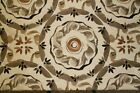 Discount Fabric JACQUARD Taupe Oatmeal  Black Floral Upholstery  Drapery