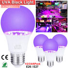 9W UV Light LED Black Light Bulbs Glow in The Dark Poster Neon Party Club Bar