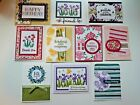 10 Handmade Greeting Cards Featuring Stampin Up Abstract Impressions