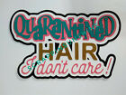 Quarantined Hair Die Cut Title for Scrapbook Pages w Pandemic Virus Theme