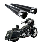 4 Megaphone Slip on Muffler Exhaust Pips End Caps Fit For Harley Touring 95 16