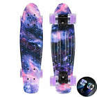 22 Cruiser Skateboard Penny Style Board Graphic Galaxy Flashing Free Shipping
