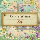 Graphic 45 Fairie Wings Collection Eight Sheets 12x12 Scrapbook Paper