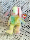TY BEANIE BABY RARE 1999 HIPPIE RABBIT / EASTER BUNNY RETIRED MINT CONDITION NEW