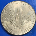 1988 US Launch of Space Shuttle Discovery 5 Commemorative Coin Medal1962
