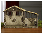 Three Kings Gifts Christmas Nativity Lighted Stable Manger for 10 inch Scale Set