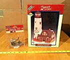 LEMAX White Cliff Lighthouse 1997 Village Collection Plymouth Corners W/Figure