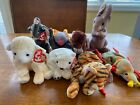 2000 Ty Beanie Babies Lot of 8 with Tags - Runner, Aurora, India, Scurry