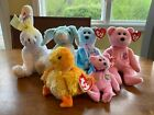 2001 Ty Beanie Babies Lot of 6 with Tags - Easter Lot - Mum, Eggs II, Carrots