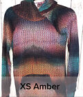 LuLaRoe Amber Hoodie XS Extra Small Rainbow knit Mermaid NWT Soft Hacci