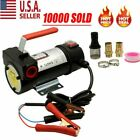 Electric Fuel Transfer Pump Diesel Kerosene Oil Commercial Auto 12V Portable US