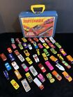 Vintage Lot of 50 Matchbox  Diecast cars and trucks with case