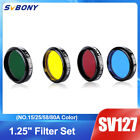 SV127 125 Eyepieces Filters SetNO15 25 58 80A Color for Planetary Details