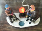 Lemax Christmas Village ~ Ice Fisherman ~ Light Up Bonfire Accessory NO BOX