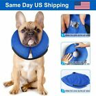 Blue M Size Dog Inflatable Collar Cat Collar Pet Medical Protection Head Cone