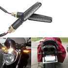 Flowing Motorcycle LED Turn Signals Brake Running Tail Lights Indicator Amber