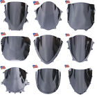 US Black Double Bubble Windscreen Windshield For Honda Suzuki Yamaha Kawasaki