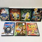 Lot of 7 Disney DVD Animated Films Toy Story 2 Chicken Little Tinker Bell +More