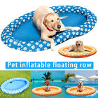 Dog Inflatable Floating Rafts Swimming Pool Water Toys Pet Summer Cool Float Row