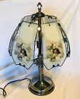 OK Lighting 22 3 Way Touch Table Lamp Native American Themed Glass Panes