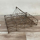 Vintage french glass carrier basket from France metal wired 12 glasses 0506202