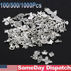 Wholesale 100 1000Pcs Bulk Mixed Silver Charms Pendants for DIY Jewelry Making