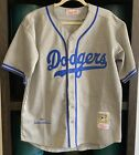 Jackie Robinson Dodgers Jersey Los Angeles Size 44 100% Authentic MLB Brooklyn