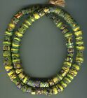 African Trade beads Vintage Venetian old glass mixed millefiori lg long strand