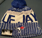 Toronto Blue Jays Knit Hat New Era NE18 Sport Pom Beanie Stocking Cap MLB