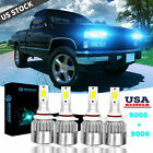 Ice Blue LED Headlight Hi Lo Beam Bulbs For Chevrolet K1500 Silverado 1994 1999